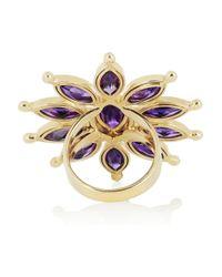 Ileana Makri | Purple Sea Flower 18-karat Gold, Amethyst And Tsavorite Ring | Lyst