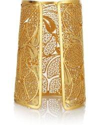 Mallarino | Metallic Cielo 24karat Goldvermeil Filigree Cuff | Lyst