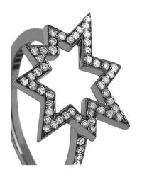 Solange Azagury-Partridge | Metallic Big Bang 18karat Blackened White Gold Diamond Ring | Lyst