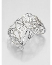 Alexis Bittar | Metallic Swarovski Crystal Deco Cuff Bracelet | Lyst