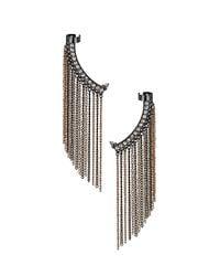 TOPSHOP - Metallic Rhinestone Chain Ear Cuffs - Lyst