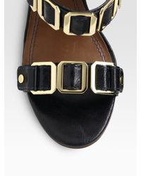 Tory Burch - Blue Luisa Leather Slingback Sandals - Lyst