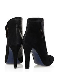 Rebecca Minkoff Black Snake Embossed Boots