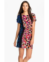Trina Turk | Multicolor Persey Multi Print Silk Blouson Dress | Lyst