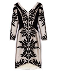 Bibhu Mohapatra | Black Embroidered Tulle Long Sleeve Dress | Lyst