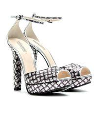 Bottega Veneta | Silver New Light Grey Intrecciato Mirror Metal Sandal | Lyst
