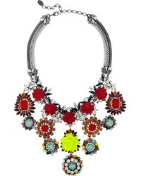Erickson Beamon | Multicolor I Never Promised You A Rose Garden Goldplated Swarovski Crystal Necklace | Lyst