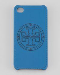 Tory Burch   Blue Stackedlogo Phone Case   Lyst