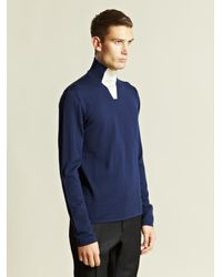 Balenciaga - Blue Top Maille Laine Mixte for Men - Lyst