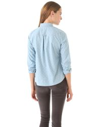 Madewell | Blue Dotted Chambray Shirt | Lyst