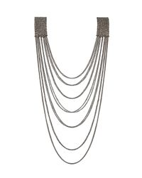 TOPSHOP | Gray Glam Shoulder Drop Necklace | Lyst