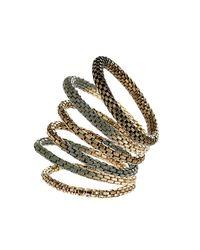 TOPSHOP - Gray Khaki Mesh Bracelet Pack - Lyst