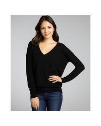 Autumn Cashmere - Black Cashmere Vneck Boyfriend Sweater - Lyst