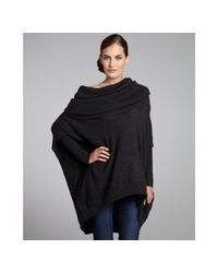 Autumn Cashmere | Gray Pepper Cashmere Oversized Cowl Neck Sweater | Lyst