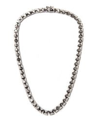 Eddie Borgo | Metallic Pyramid Necklace | Lyst