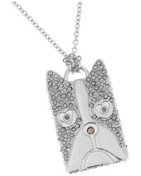 Marc By Marc Jacobs - Metallic Shorty Dog Crystalembellished Silvertone Necklace - Lyst