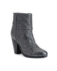 Rag & Bone | Gray Classic Newbury Boot in Gunmetal Crinkle | Lyst