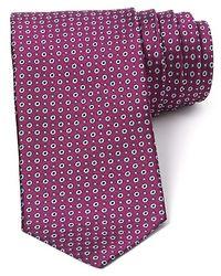 Saint Laurent - Purple Circle Neat Classic Tie for Men - Lyst