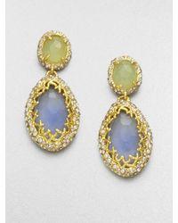 Alexis Bittar - Metallic Double Gemstone Drop Earrings - Lyst