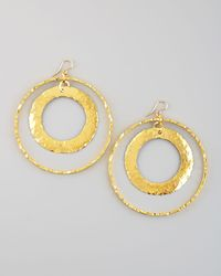 Devon Leigh - Metallic Doublecircle Earrings - Lyst