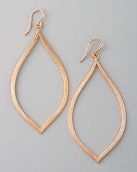 Dogeared | Metallic Always Beautiful Eye Earrings Rose Gold | Lyst