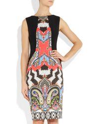 Etro | Black Printed Crepe Dress | Lyst