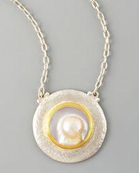 Gurhan | Metallic Island Pearl Pendant Necklace | Lyst