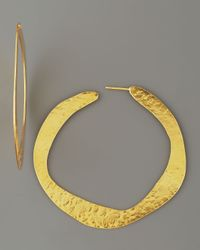 Herve Van Der Straeten - Metallic Hoop Earrings - Lyst