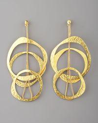 Herve Van Der Straeten   Metallic Multicircle Earrings   Lyst