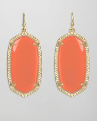 Kendra Scott | Orange Elle Earrings Salmon | Lyst
