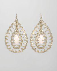 Kendra Scott | White Zola Squiggle Earrings  | Lyst