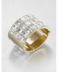 Michael Kors - Metallic Faceted Cuff Bracelet - Lyst