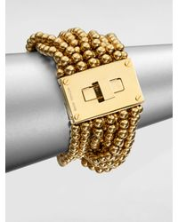 Michael Kors | Metallic Multistrand Turnlock Bracelet | Lyst
