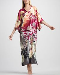 Natori | Pink Ming Floralprint Caftan | Lyst