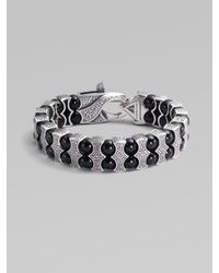 Stephen Webster | Metallic Black Onyx & Sterling Silver Bracelet for Men | Lyst