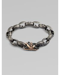 Stephen Webster - Metallic Steel Link Bracelet for Men - Lyst