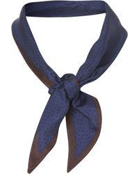 TOPMAN - Blue Navy Dot Neckerchief for Men - Lyst