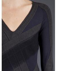 Donna Karan New York | Gray Collage Dress | Lyst