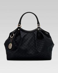 Gucci | Black Sukey Original Gg Large Tote | Lyst