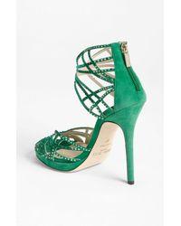 Jimmy Choo | Green Diva Sandal | Lyst