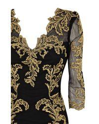 Karen Millen   Black Baroque Mesh Dress   Lyst
