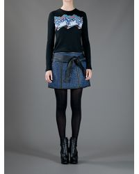 Proenza Schouler | Blue Woven Mini Skirt | Lyst