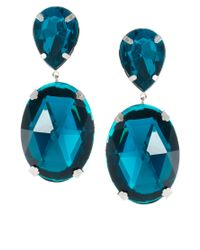 ASOS | Blue Gem Drop Earrings | Lyst