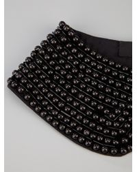 Karl Lagerfeld - Black Beaded Collar - Lyst