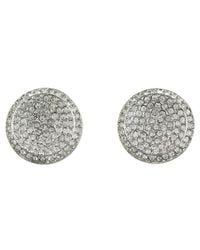 Michael Kors | Metallic Brilliance Concave Pave Stud Earrings | Lyst