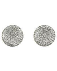 Michael Kors - Metallic Brilliance Concave Pave Stud Earrings - Lyst