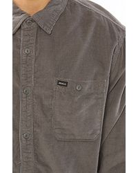 RVCA | Beige The Waller Buttondown in Pavement for Men | Lyst