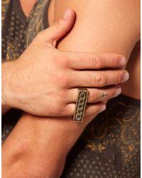 ASOS - Metallic Asos Chain Detail Double Ring for Men - Lyst