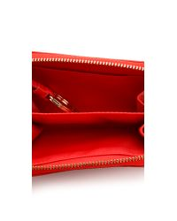 Tory Burch - Red Amanda Zip Coin Wallet - Lyst
