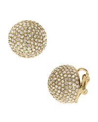 Michael Kors - Metallic Pave Dome Clip Earrings - Lyst